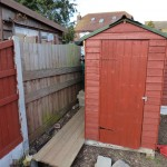 Before picture of shed area