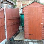 After picture of the shed area