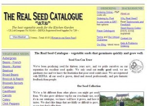 Real Seed Company website screen capture